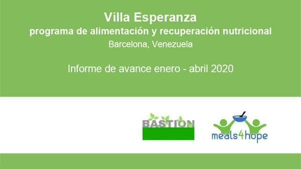 Informe avance enero-abril-2020