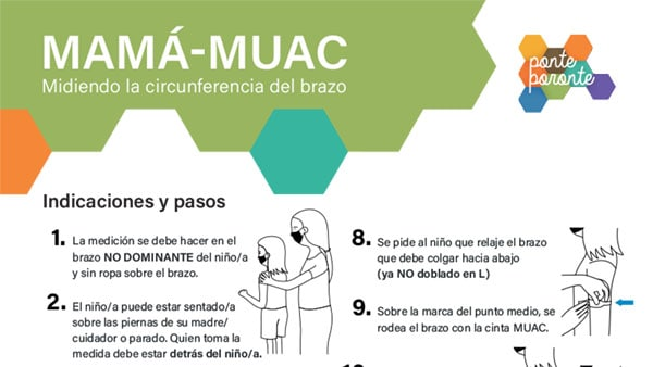 MAMA-MUAC Guidelines for measuring arm circumference